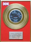 "CILLA BLACK - 24 Carat Gold 7"" Disc - YOU'RE MY WORLD"